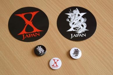 Badges et autocollants X Japan