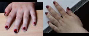 Nail art coccinelles