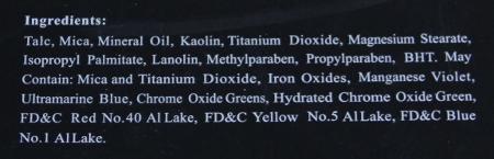 Ingrédients des fards