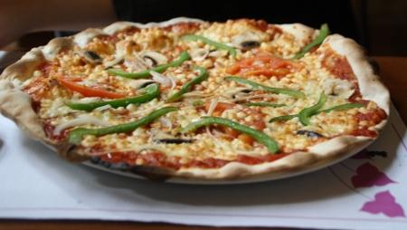 Pizza végétarienne chez la Casuccia
