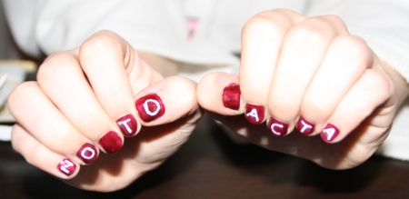 "Nail art ""No to ACTA"""