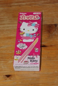 Des pocky à la fraise Hello Kitty