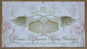 Carte de visite Pretty&Cute