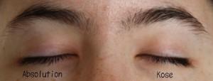 Mes yeux une fois démaquillés