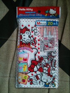 Des petits sachets de courses Hello Kitty